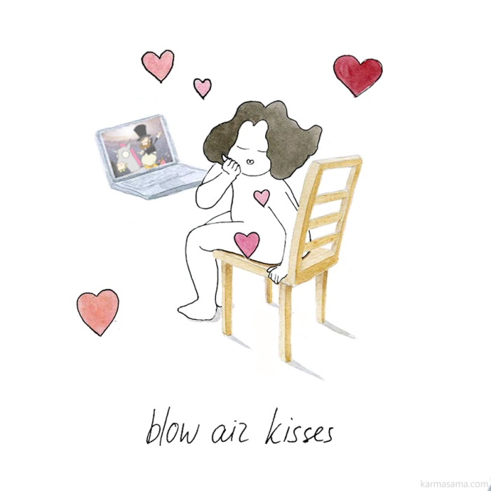 Blow air kisses