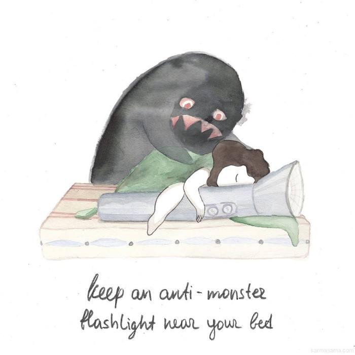 Keep an anti-monster flashlight near your bed